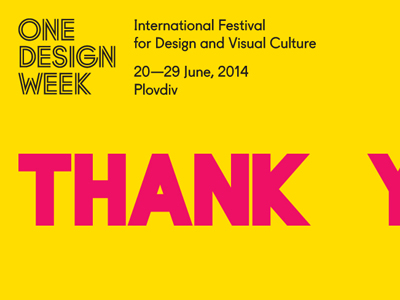 One Design Week 2014 cover image