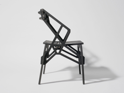 Frame Arm Chair Black